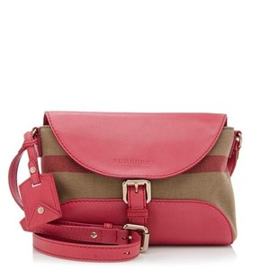 Burberry Leather/canvas Cross Body Bag