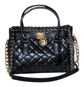 MICHAEL Michael Kors Quilted Leather Satchel in Black
