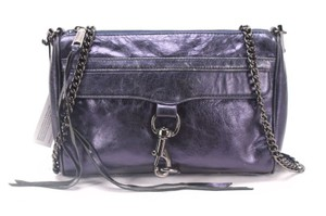 Rebecca Minkoff Morning After Convertible Large Mac Limited Edition Navy Metallic Crossbody / Clutch