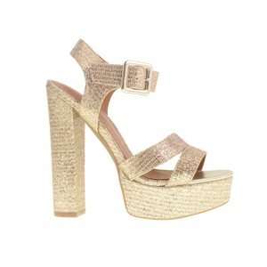 Chinese Laundry Champagne Glitter Wedges