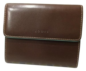 Lodis Brown Leather Trifold Wallet