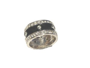 Other Black Enamel CZ Ring