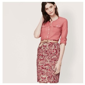 Ann Taylor LOFT Paisley Pencil Skirt