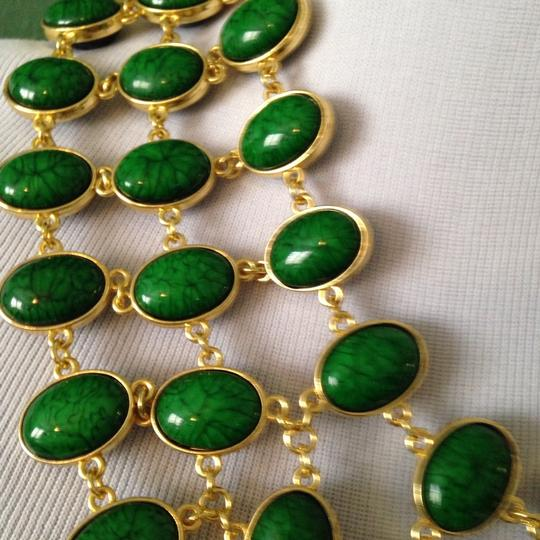 Amrita Singh Reversible Green/Black 3-Row Faceted Necklace