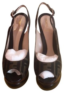 Fendi Brown with light brown Platforms
