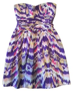 Parker short dress Purple Printed Silk Watercolor on Tradesy