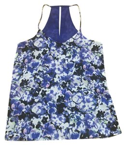 Express Reversible Floral Print Top Purple