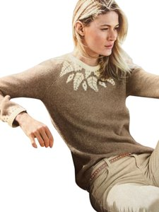 Garnet Hill Cashmere Fair Isle Sweater