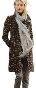 Via Spiga Animal Print Wool Coat
