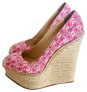 Charlotte Olympia White&Pink Wedges