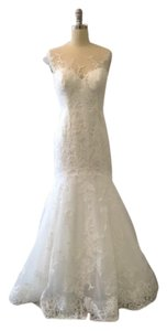 Essense of Australia All Ivory Lace 6269 Feminine Wedding Dress Size 12 (L)