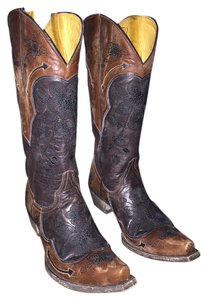Old Gringo Distressed Embroidered Floral Brown Boots