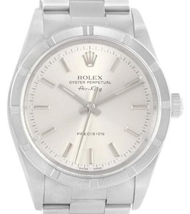 Rolex Rolex Air King Stainless Steel Silver Baton Dial Mens Watch 14010