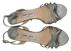 Jimmy Choo Special Occasion Metallic Cinderella Sling Back Dancing Silver Formal
