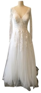 Essense of Australia All Ivory Lace 6364 Traditional Wedding Dress Size 12 (L)