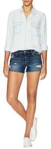 JOE'S Jeans Cultural Patch Cut Off Denim Distressed Shorts Mollie