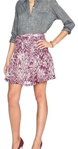 IRO Mini Skirt Maroon/Purple