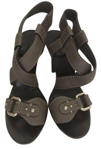 Chloé Chloe Strappy Buckles Sexy Nights French Dark grey Sandals