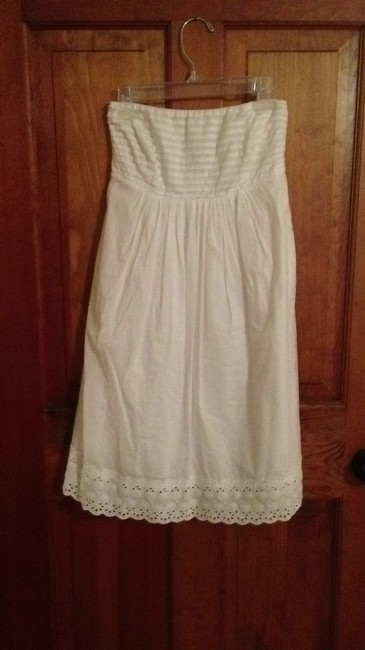 J.Crew short dress white Eyelet Empire Waist A-line on Tradesy