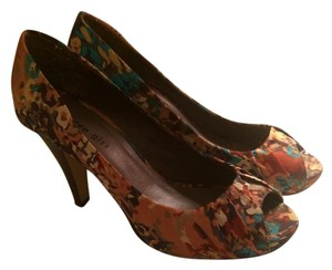 Madden Girl Open Toe Hidden Platform Fabric Fall Multi Pumps