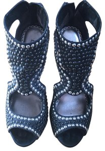 bebe Black and Silver Platforms