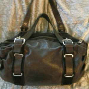 Marc Jacobs Designer Leather Suede Pre-owned Satchel in Brown