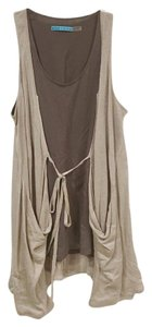 Alice + Olivia Vest Top Tan, Brown, Gray