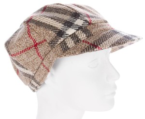 Burberry Beige, black Burberry Nova Check plaid cashmere hat M Medium