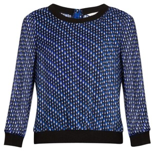 Diane von Furstenberg Top Blue / black / white