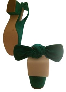Sole Society Brand-new Suede Bow Emerald Green Flats