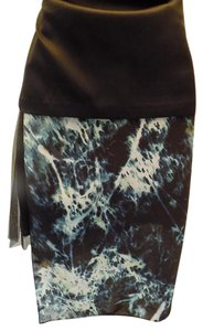 Reiss Skirt Green, Black, Multi
