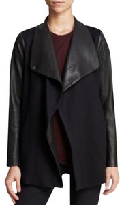 Theory Charcoal Leather Jacket