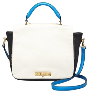 Marc by Marc Jacobs Color Satchel in black blue and white
