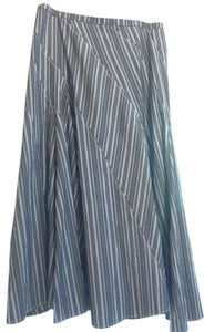 Gunex Classic Flowy Maxi Skirt Gray and White