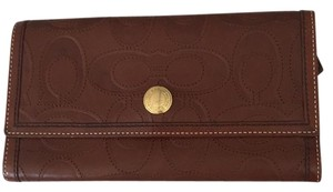 Coach Coach Chelsea Embossed Signature Check Book Wallet