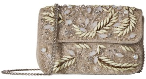 Mary Frances Crystal Grotto Beaded Faux Leather Ivory Clutch