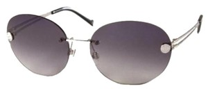Chanel 4158 CC Rimless Frameless Aviators Silver Round Oval Signature Pilot