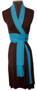 Kara Janx short dress Brown with Turquoise on Tradesy