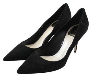 Dior Suede Pointed Toe Black Pumps