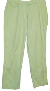 Tommy Hilfiger Pants Cropped Preppy Gingham Check Capris Green White