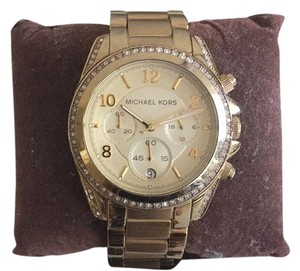 Michael Kors Michael Kors Gold Watch with Crystal Studs