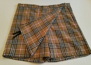 Burberry Mini/Short Shorts Tartan plaid - tan