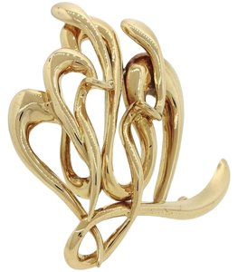 Ilias Lalaounis Ilias Lalaounis 18K Solid Yellow Gold Repousse Large Brooch Pin