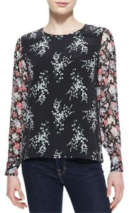 Equipment Silk Longsleeve Logo Top Floral