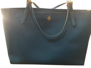 Tory Burch York Saffiano Tote in Jelly Blue