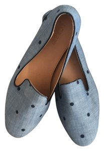J.Crew Polka Dot Addie Loafer Navy Chambray Blue Flats