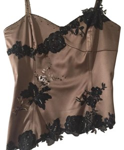 Adrianna Papell Top Brown