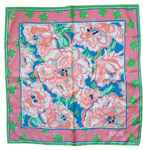 Lilly Pulitzer Sutton Square Silk Scarf in Lucky Charm
