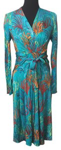 ISSA London short dress turquoise, multi on Tradesy