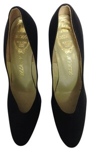 Delman Heels Black Pumps